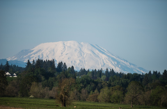 Photo taken from the west about 15 miles away from the crater.