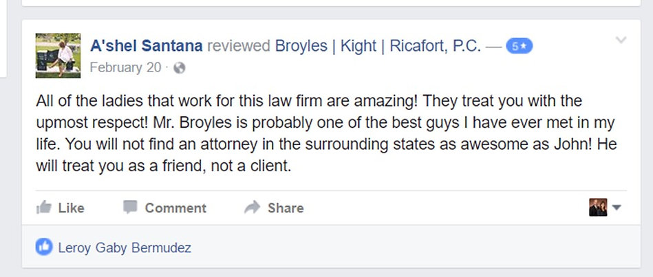 John Broyles BKR immigration attorney review facebook