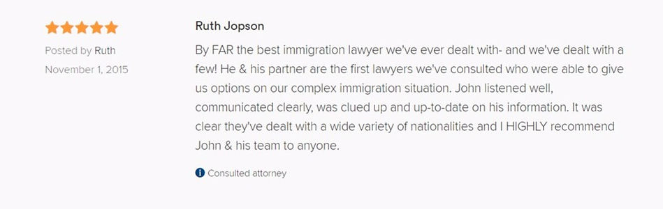 John Broyles AVVO review attorney immigration lawyer