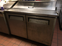 2 door prep fridge
