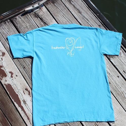 Women's short sleeve teal signature t-shirt