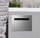 Stainless steel letterbox