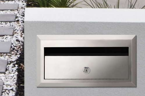 Brickies 350mm front opening letterbox with sleeve