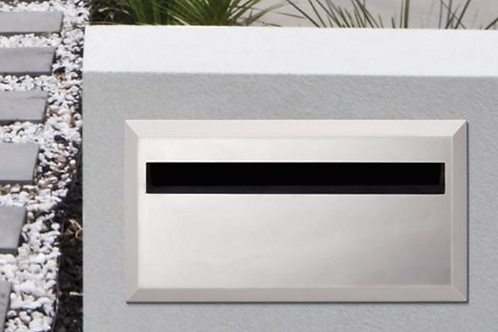 Brickies 350mm rear opening letterbox with sleeve