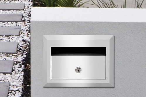 Brickies 230mm front opening letterbox with sleeve
