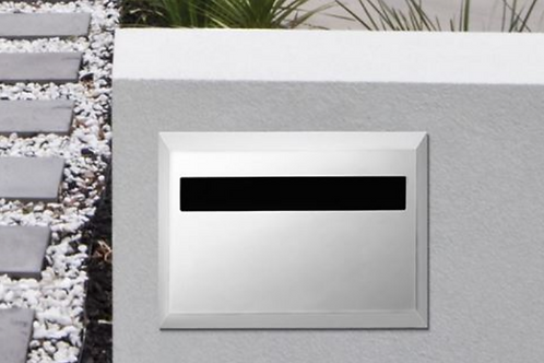 Brickies 230mm rear opening letterbox with sleeve