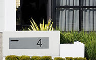 Stainless steel letterbox plate
