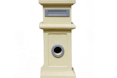 Melaleuca Pillar Letterbox (includes slab for installation)