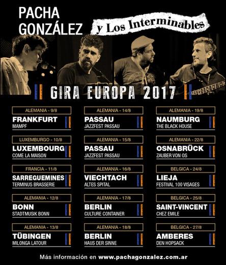 2da Gira europea en agosto 2017