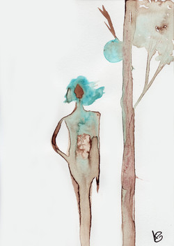 blue woman Grandir