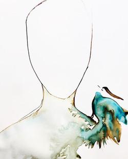 portrait d'un coeur oiseau