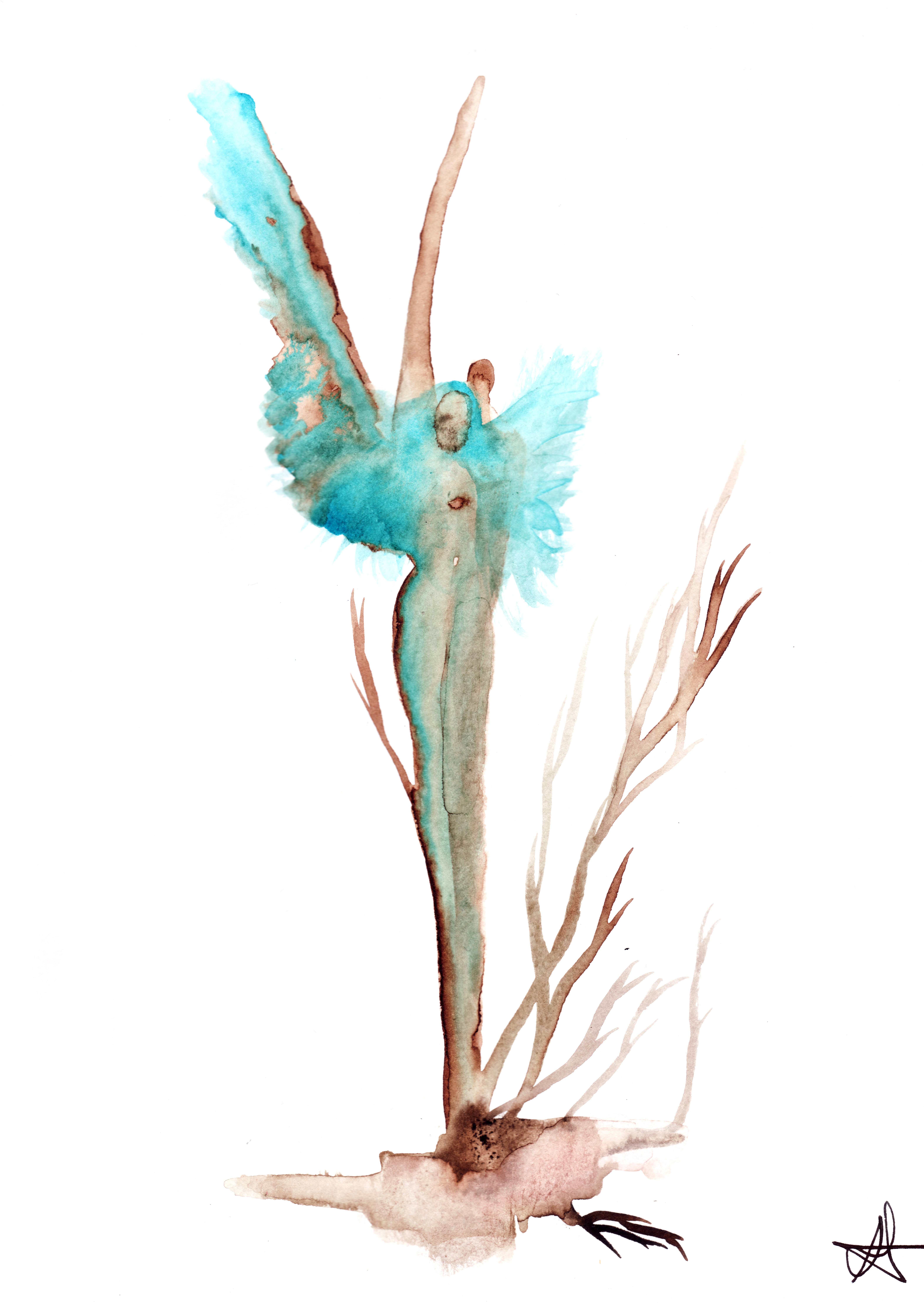 blue woman A4 l'ange bleu