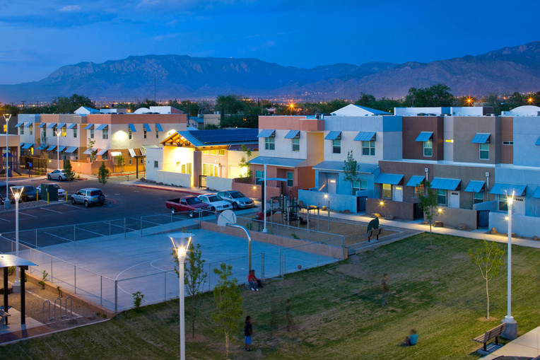 Community basketball court and private, gated parking
