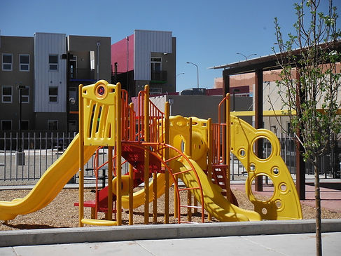 Red and yellow jungle gym