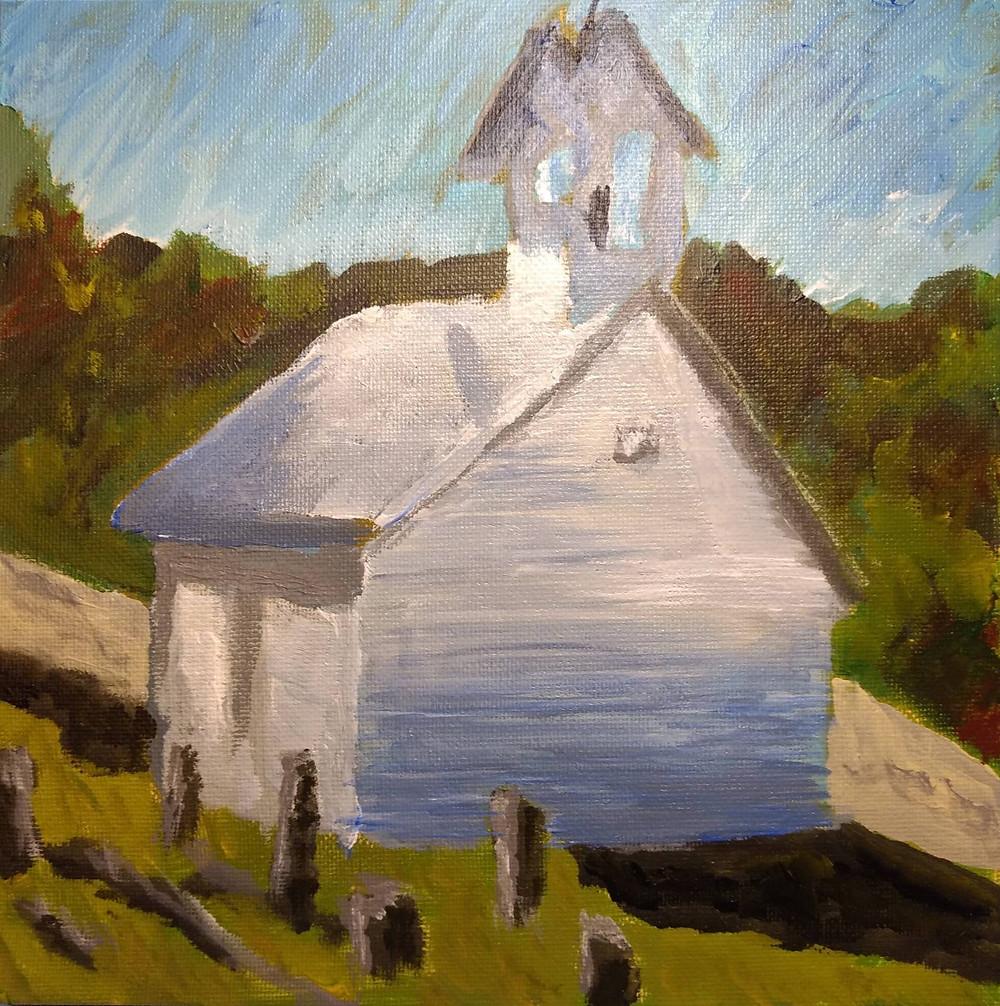 4 churches - Headricks Chapel - Wears Valley - Actual Painting-8x8.jpg