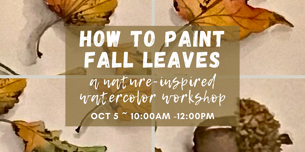 How to Paint Fall Leaves with Watercolor