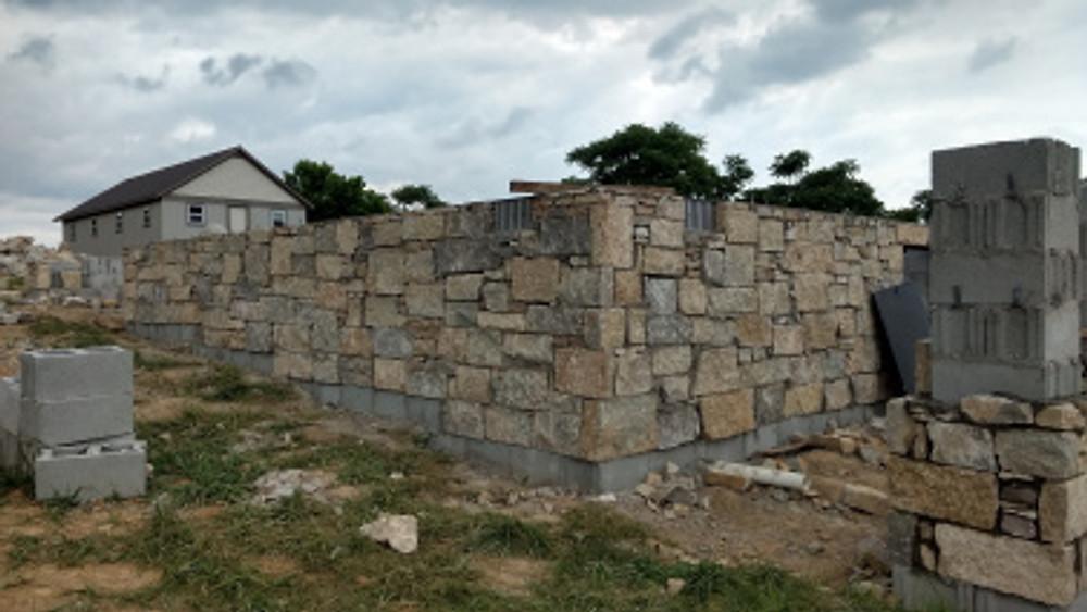Foundation stonework