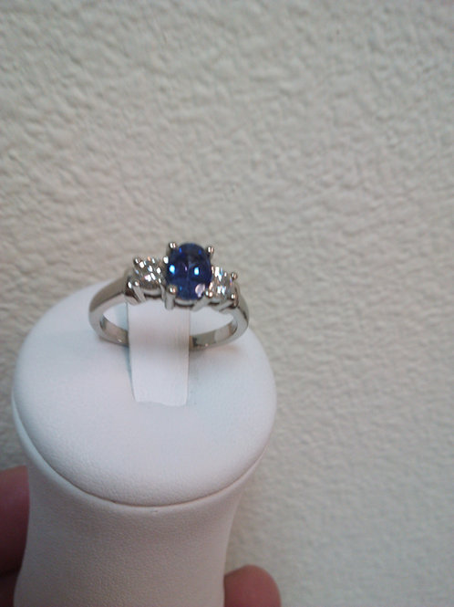 Engagement Ring Sapphire Oval 7x5