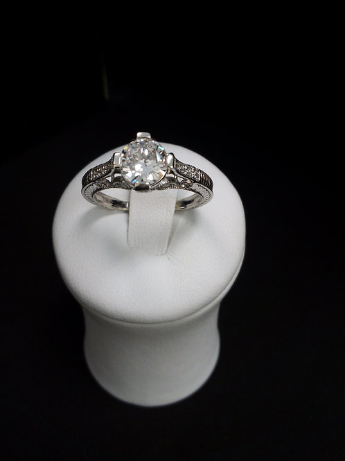 Engagement Diamond Ring Center Stone 1.0 Ct