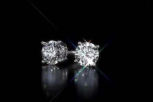 1/4 Ct. Round Brilliant Cut  Diamond Stud Earrings