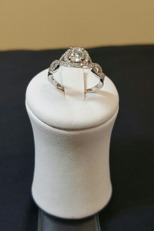 Engagement Diamond Ring Center Stone 1/2 Ct