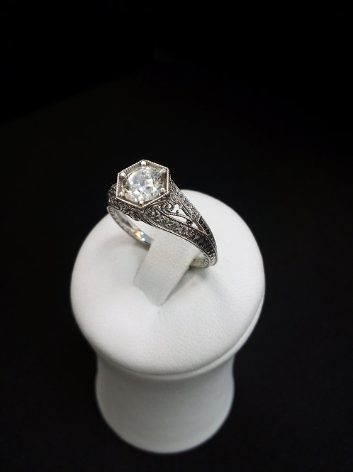 Engagement Vintage Diamond Ring 1.0 CT Center Stone