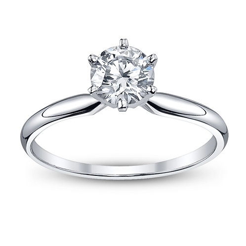 1/4 Ct. Engagement Ring 14K White Gold