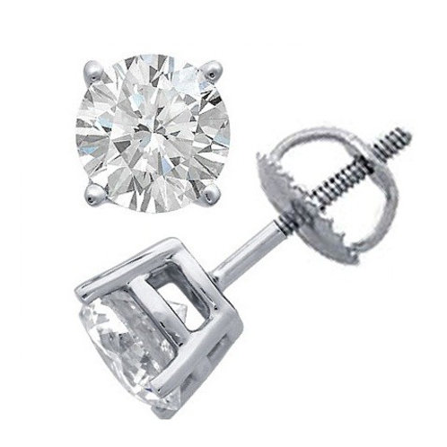 1/2Ct.TW Round Brilliant Cut Diamond Stud Earrings