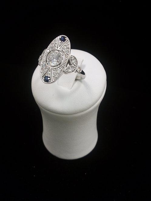Vintage Diamond Ring 14KWG , Center Stone 1/2 Ct