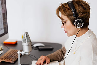 Voiceover artist in work - we build website for them too.