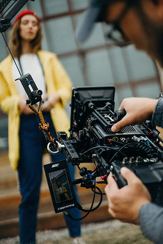 Profile on a Casting Website or Personal Website is Better? Actress and Cameraman in Work