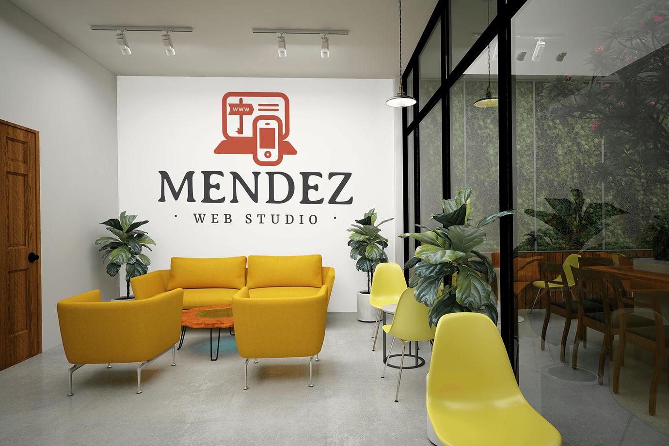 Mendez Web Studio Meeting Room Mockup