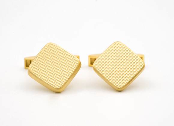 Vintage Cufflinks in 18K Gold, with Waffle Design