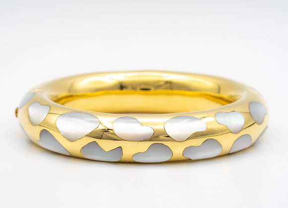 Tiffany & Co. by Angela Cummings Mother of Pearl Bombe Bangle Bracelet