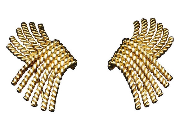 Tiffany & Co. Schlumberger 18 Karat Gold Rope Earrings, circa 1970s