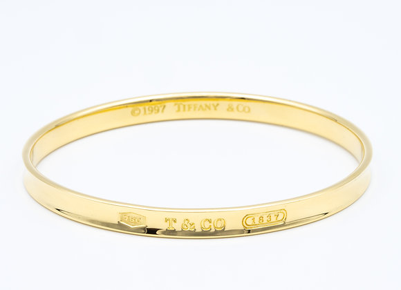 "Tiffany & Co. 18 Karat Gold ""1837"" Collection Bangle Bracelet"