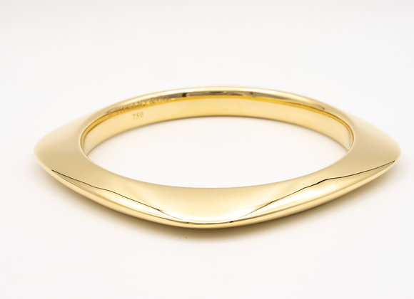 Tiffany & Co. 18 Karat Gold Square Cushion Shape Bangle