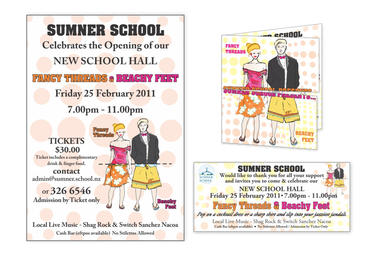 Flyer and Ticket - Sumner School Fundraiser