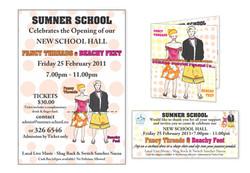 Flyer and Ticket - Sumner School Fundraiser