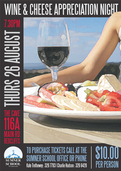 Poster Design - Wine & Cheese Tasting Event