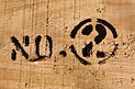 Text _number two_ on wood texture surfac
