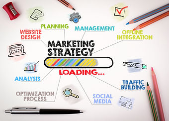 marketing strategy Concept. Chart with k