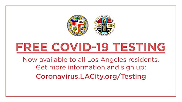 Free COVID-19 Testing to LA County residents