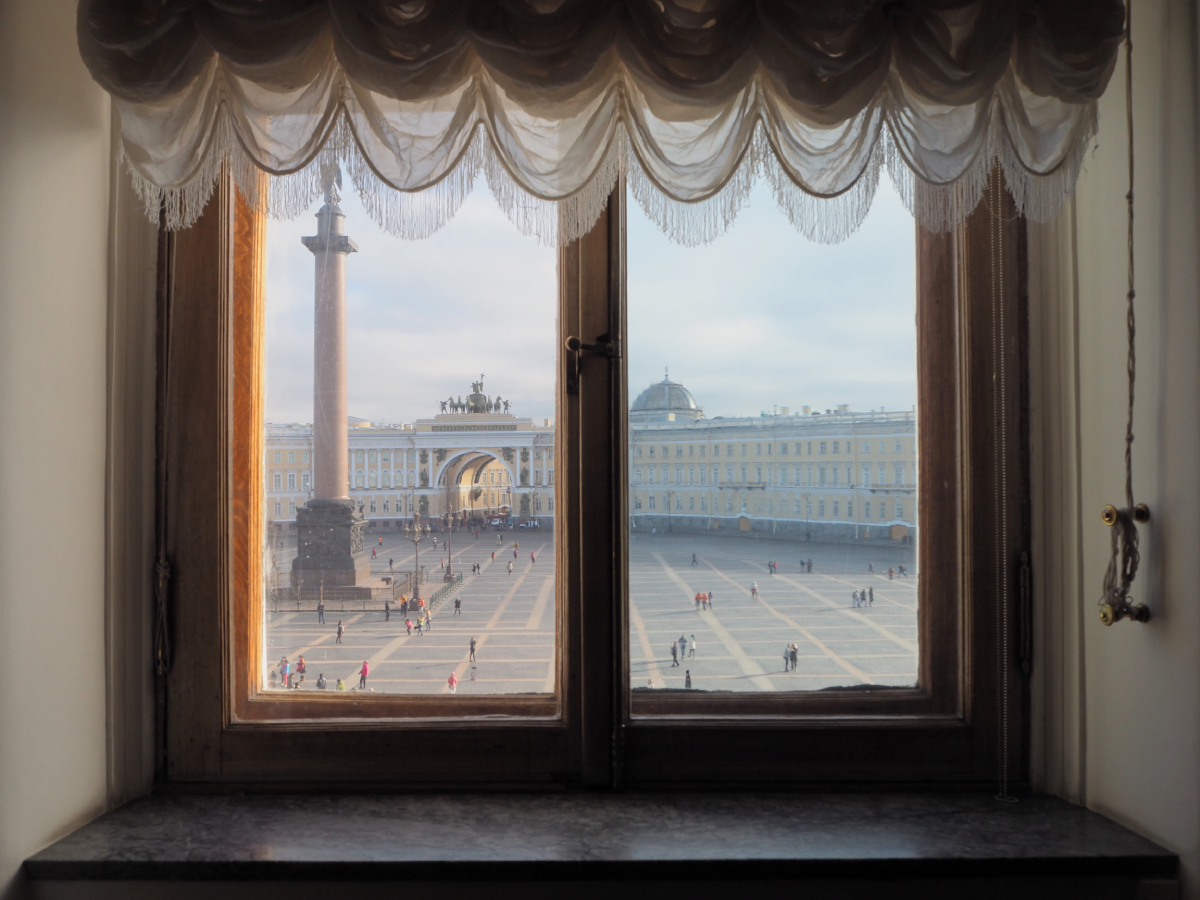 Looking out window from Hermitage II