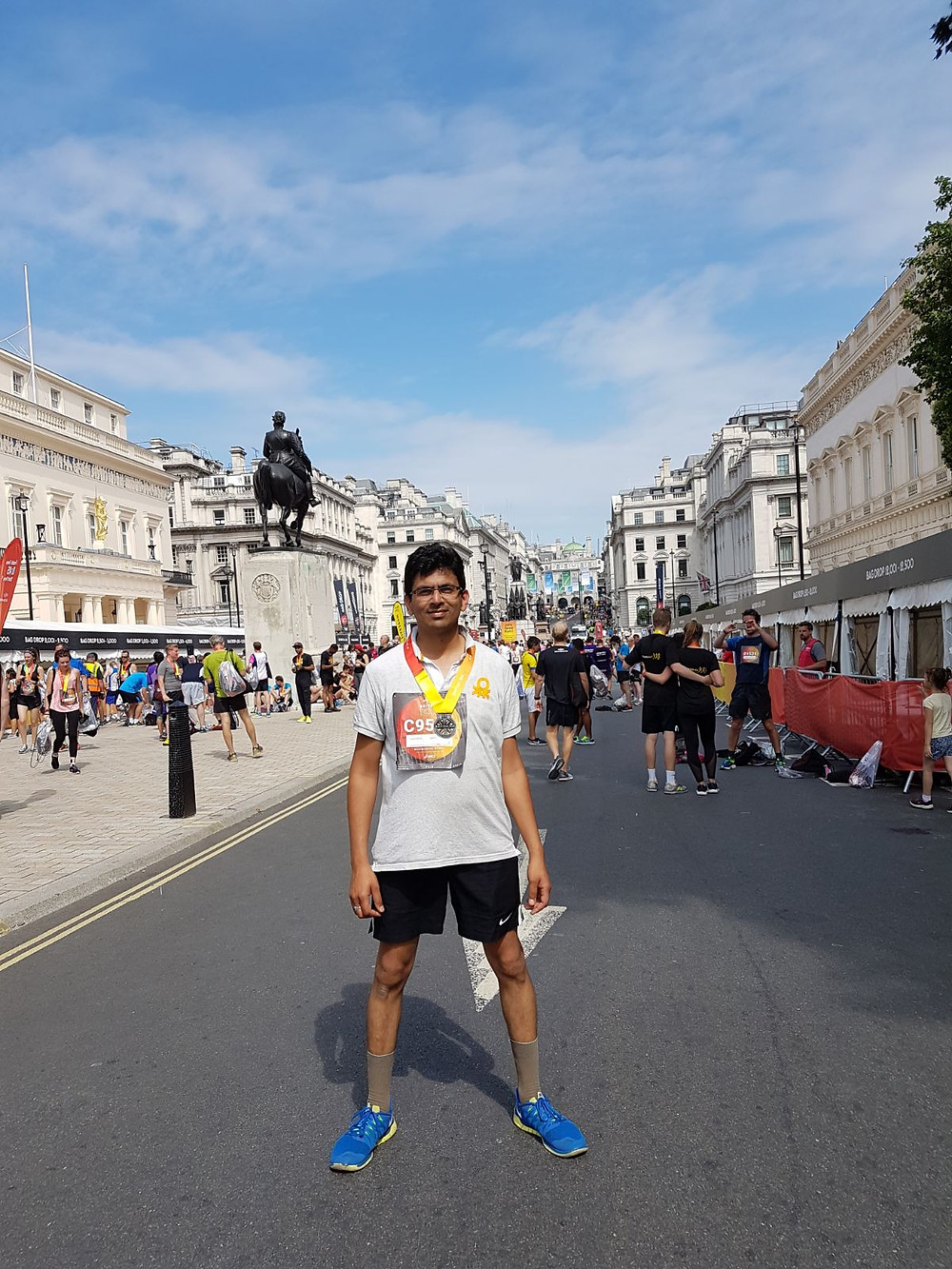 Dr Shashank Sharma - After finishing British 10k