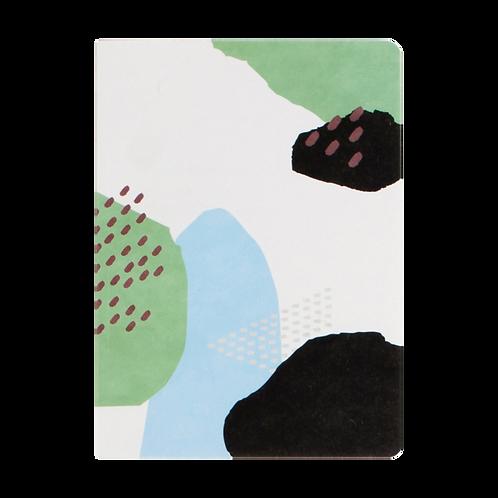 Collage Notizheft aus Hanji (traditionelles koreanisches Papier) Gebirge