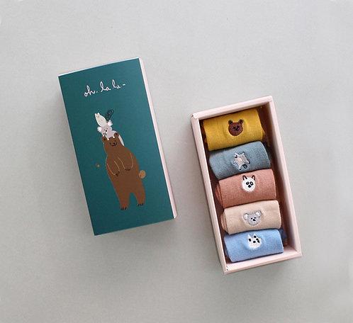 Geschenkbox mit Socken im 5er-Pack - Hello Friends