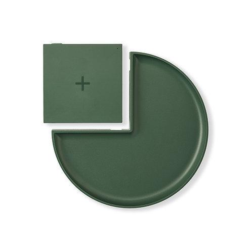 Wireless Charger Ladepad mit Ablage grün