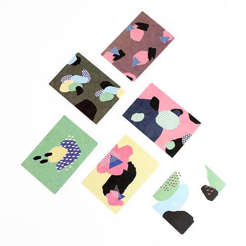 Collage Notizheft aus Hanji (traditionelles koreanisches Papier)