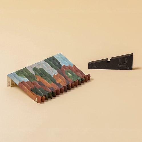 """45g Laptopständer aus pH-neutralem Recyclingpapier """"g.flow"""" Wald"""